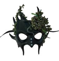 Tree Gremlin Half Mask Adult Green Forest Goblin Women's Medusa Snakes Goddess
