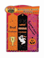 3 Halloween Party Award Ribbons Best Costume Contest Best Funniest Most Original