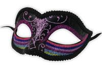 Glittery Rainbow Half Eye Mask Masquerade Pride Parade Costume Accessory A