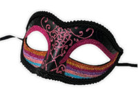 Glittery Rainbow Half Eye Mask Masquerade Pride Parade Costume Accessory B