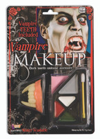 Scary Vampire Makeup Kit Fangs Teeth Halloween Costume Accessory
