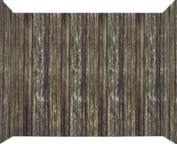 "100ft x 47"" Brown Rotted Wood Wall Backdrop Halloween Haunted House Decoration"