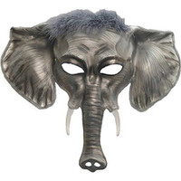 Jumbo Elephant Plastic Half Mask Costume Accessory Grey Animal Zoo Dumbo Circus