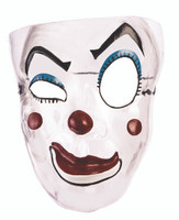 Transparent Evil Clown Mask Inquisitive Evil Adult Halloween Costume Accessory