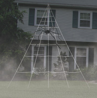 23' Giant White Spider Web Yard Halloween Decoration Haunted House Home Decor