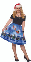 Christmas Eve Holiday Vintage Retro Print Dress Flared Women's Plus Size 18