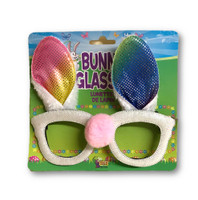 Cute Easter Bunny Rabbit Glasses With Ears Pink Nose Spring Costume Accessory