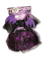 Bat Girl Kit Wings Headband Tutu Black Purple Girls Halloween Costume Accessory