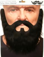 High Quality Brown Lord Mustache & Beard Set 3M Self Adhesive Facial Hair Mens