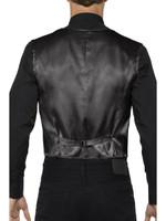 Black Sequin Waistcoat Costume Vest Mens Adult Christmas Disco Showbiz  SM-XL