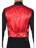 Red Sequin Waistcoat Costume Vest Mens Adult Christmas Disco Showbiz  SM-XL