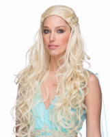 High Quality Empress Blonde Costume Wig Women's Medieval Khaleesi Cosplay Viking