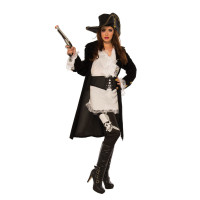 High Seas Raider Pirate Women's Captain Buccaneer Halloween Costume SM-LG