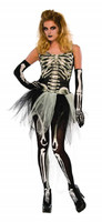 Bad To The Bone Skeleton Adult Women's Sexy Halloween Costume w Tutu XS-LG