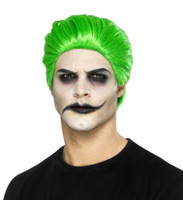 Slick Trickster Green Wig Joker Clown Style Men Cosplay Adult Super Villain