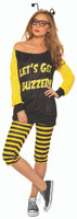 Let's Get Buzzed Funny Buzzing Bumble Bee Women's Halloween Costume STD or PLUS