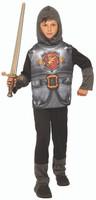 Valiant Knight Of The Dark Kingdom Kid's Halloween Costume Medieval Boy's SM-LG