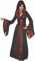 Vampiress Countess Crimson Women's Halloween Costume Vampire Queen Fancy Dress