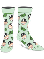 Hasbro Monopoly Crew Socks Rich Uncle Pennybags Casual Adult Mens 10-13