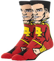 DC Comics Shazam 360 Crew Socks Character Collection Package Hero Adult Mens