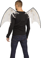 Black Skele-Bone Wings Bat Goth Dark Angel Halloween Cosplay Accessory