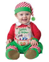 Adorable Santa's Little Helper Lil' Elf Baby Christmas Costume Jumpsuit 6-24M