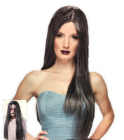 "Westbay 26"" Parted Grey Costume Wig Mens Womens Long Straight Hippie Gothic"