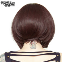 Rockstar Quality Long Sleek Bob Black Rose Wig Heat Stylable Lace Front Lolita