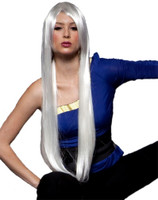 High Quality Blush Fate Snow White Costume Wig Womens X-Long Straight