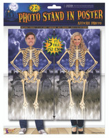 2 5' Panels Face Cut-Out Skeleton Posters Halloween Haunted House Decoration