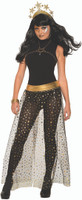 Celestial Stars Moons Skirt Overlay Adult Women's Halloween Costume Accessory OS