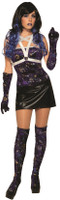 Celestial Velvet Thigh Highs Blue & Purple Womens Hosiery Moon Stars Sun OS