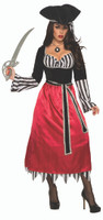 Lady Matey Merlot Pirate Caribbean Buccaneer Adult Women's Costume Standard Size