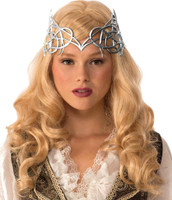 Women's Medieval Fantasy Silver Crown Renaissance Princess Queen Costume Acces.