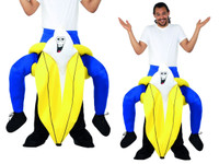 Carry Me on Your Shoulders Banana Costume Piggyback Ride Adult Funny Fruit