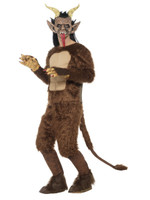 Deluxe Beast Krampus Demon Adult Costume Men's Christmas Creature Faux Fur MD