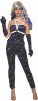 Celestial Blue Velvet Ruched Leggings Adult Women's Halloween Costume Accessory