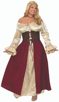 Medieval Tavern Bar Wench Adult Women's Plus Size Costume Renaissance Faire