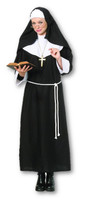 Nun Black Uniform Habit Adult Religious Women Halloween Costume Standard New