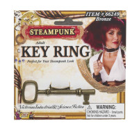 Steampunk Key Ring Antique Bronze Copper Look Industrial Victorian Jewelry Prop