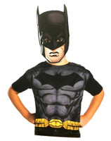 Batman Birthday Party Dress-Up Costume Set Boys Child Paper Mask Tunic Small