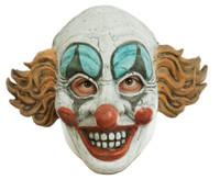 Vintage Creepy Clown Face Antique Look Deluxe Latex Half Mask Halloween Access.
