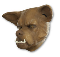 Ugly Brown Dog With An Underbite Funny Adult Latex Mask Costume Accessory