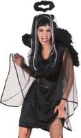 Forum Novelties Black Dark Angel Halo Feather Marabou Costume Accessory Women