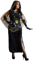 Celestial Starshine Sorceress Costume Dress Plus Size Womens Galaxy Space 18-22
