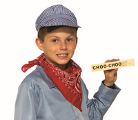 Engineer Child Costume Kit Boys Train Conductor Hat Whistle Bandana