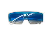 80s To The Maxx Totally Stylin' Sunglasses Blue Abstract Retro Costume Accessory