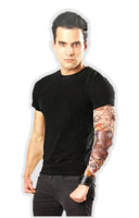 Tattooed Ink-Spirations Tattoo Sleeve Looks Real! Biker Dude Mens LG