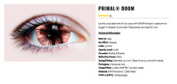 Primal Costume Contact Lenses Costume Doom Cursed Cosplay Eye Make-up Anime