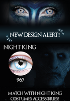 Primal Costume Contact Lenses Night King Blue Cosplay Make-up Anime Stoned